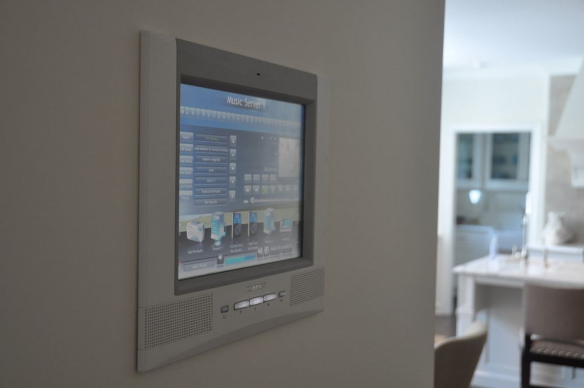 Home Automation Crestron Control Panel