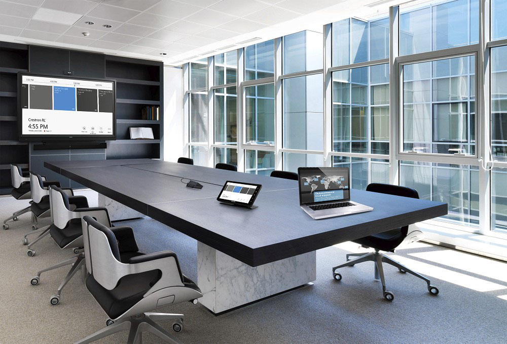 Commercial boardroom automation Crestron