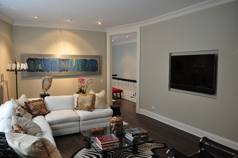 Recessed TV in Wall