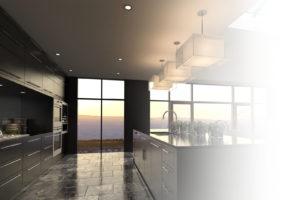 Lighting Control Kitchen at dusk