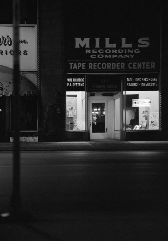 Mills Recording Company photo from 1961