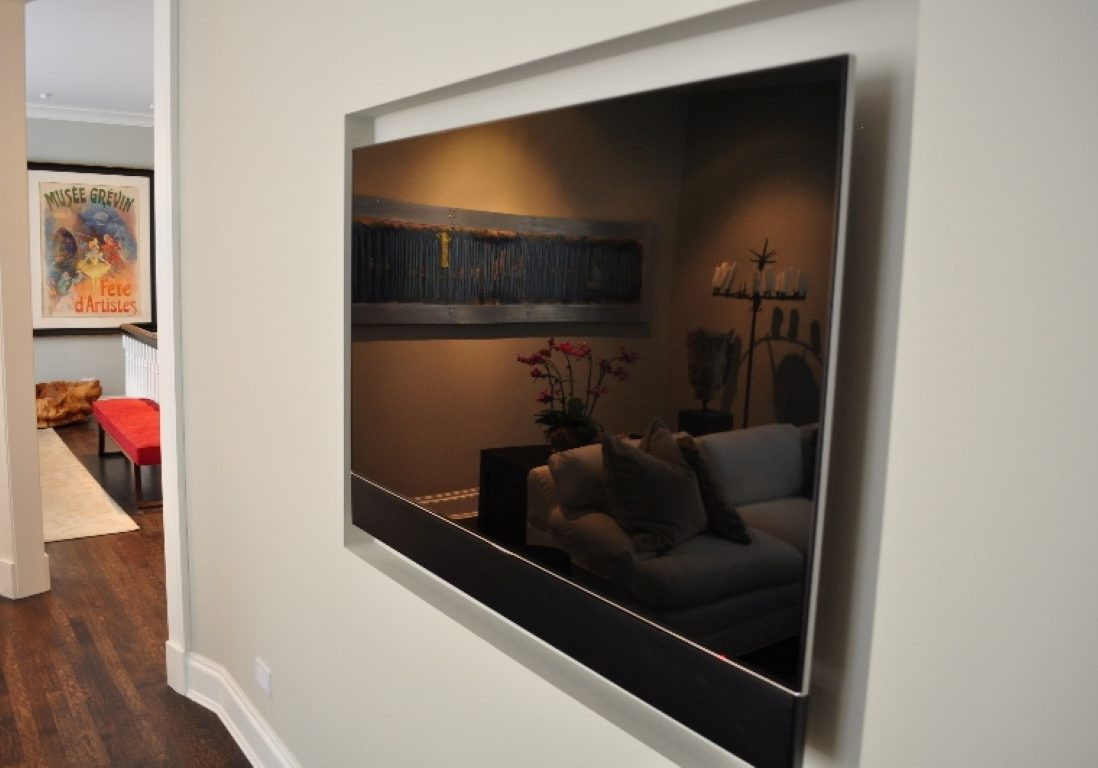 TV Recessed in Wall